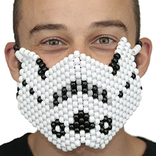 Storm Trooper Star wars Full Kandi Mask by Kandi Gear, rave mask, halloween mask, beaded mask, bead mask for music fesivals and parties