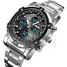 Reloj analógico Digital para Hombres - Reloj Deportivo Militar para Hombre con Alarma/Cuenta Regresiva