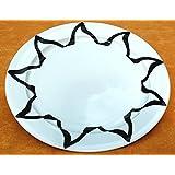 STAR BOPLA! Porcelana Negro Y Blanco Serie 1 MAXI PLATO - maxi ASSIETTE - maxi PIATTO - maxi PLATO - maxi PLATÓN diámetro ø 31CM, 12-1/4 - Negro Y Blanco, 31cm