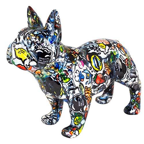 Pomme Pidou Spardose XL Bodhi's Big Jack   Originale e Keramische French Bulldog Hund Grafitti Grosse Spardose   Melbourne Gratis Geschenkbox -