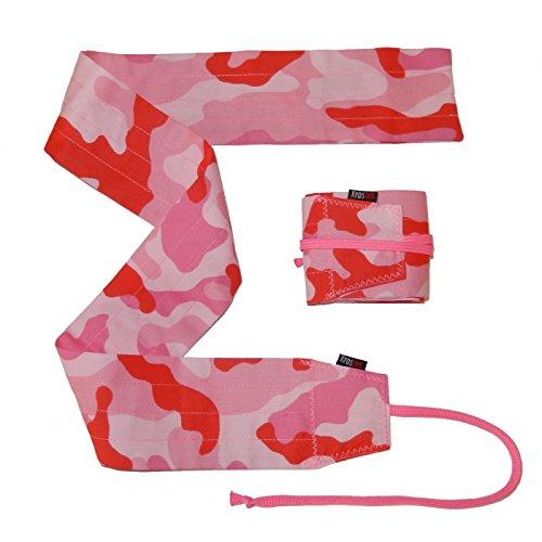 Par de muñequeras strength color camuflaje rosa - Fucsia para crossfit, gym, fitness. Regalo