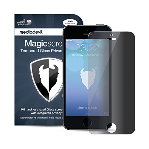 MediaDevil iPhone SE / 5S / 5C / 5 Glasfolie, Privacy Harteglas Schutzfolie (1 x Displayschutzfolie) Gehärtetem Panzerglas