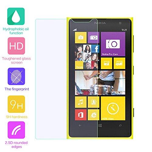 fenrad Esclusivo Alta Qualità in Vetro Temperato Pellicola protettiva schermo di protezione per Nokia Lumia 1020/zoom (Il panno in microfibra incluso)(Radians models,can't be covered fully)