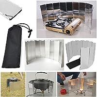 JJOnlinestore– 10placas plegables para el aire libre, camping, cocina de gas, picnic, estufa, senderismo