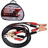 Câbles de Démarrage, Pistes de soulèvement en cuivre lourd et clips, 4 m de long, section transversale de 6 mm², Évalué jusqu'à 600 A (Comprend sac à sac zippé avec poignée)