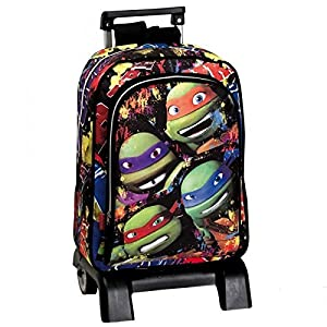 51TwGofcf4L. SS300  - Montichelvo 2134-52103 Tortugas Ninja Together Mochila Carro, Color Negro