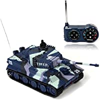 Atdoshop New Mini 1:72 49MHz R/C Radio Remote Control Tiger Tank 20M Kids Toy Gift Army (Blue) by atdoshop - Compare prices on radiocontrollers.eu