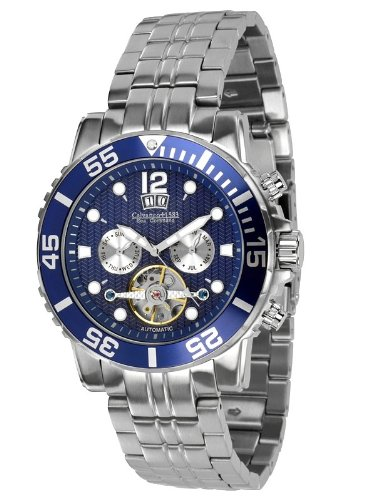 Calvaneo - Calvaneo Sea Command Steel Blue Automatic Diver - Mixte - Argent