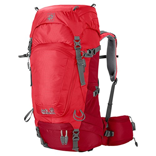 Jack Wolfskin Damen Rucksack Highland Trail, Indian Red, 53 x 31 x 15 cm, 34 Liter, 2004641-2210