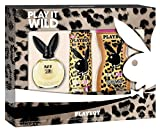 Playboy Play it Wild Damen Geschenkset, EDT 40 ml + Deo Body Spray 150 ml + Duschgel 250 ml, 190 ml