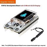 MakerHawk ESP32 Entwicklungsbrett WiFi Bluetooth LoRa Doppelkern 240MHz CP2102 mit 0.96inch OLED Anzeige und 868 / 915MHZ Antenne für Arduino