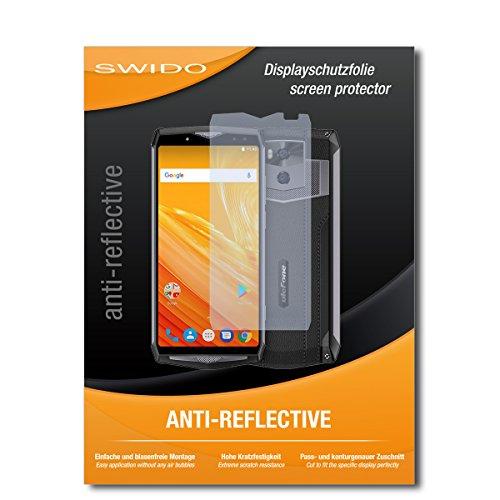 SWIDO Schutzfolie für Ulefone Power 5 [2 Stück] Anti-Reflex MATT Entspiegelnd, Hoher Härtegrad, Schutz vor Kratzer/Bildschirmschutz, Bildschirmschutzfolie, Panzerglas-Folie