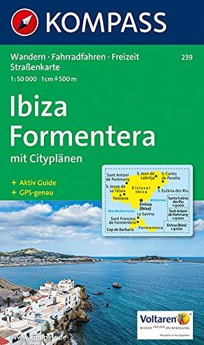 Kompass Karten, Ibiza - Formentera: Wandelkaart 1:50 000 (KOMPASS-Wanderkarten, Band 239)