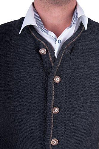 Almwerk Herren Trachten Strick Jacke Modell Xaver, Farbe:Anthrazit;Größe:54 - 4