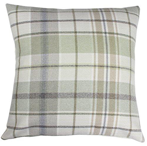 Balmoral-Kissenbezug im Schottenkaro, Tweed, Fryetts, baumwolle, Troon Moss, 40,6 cm Moss Tweed