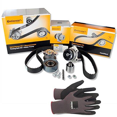 Inspektionspaket Contitech Zahnriemen-Satz CT1134WP2 + Contitech Wasserpumpe + Priner Montagehandschuhe