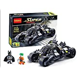 (Angel Impex) Assemble Betman Super Hero Toy Car With (325 Pcs) For Kids