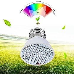 CALISTOUK LED-Wachstumspflanzen-Lampe, 36 LEDs, E27, 4 W Gewächshaus, leuchtende Beleuchtung, Vollspektrum für Hydrokulturpflanzen im Innenbereich