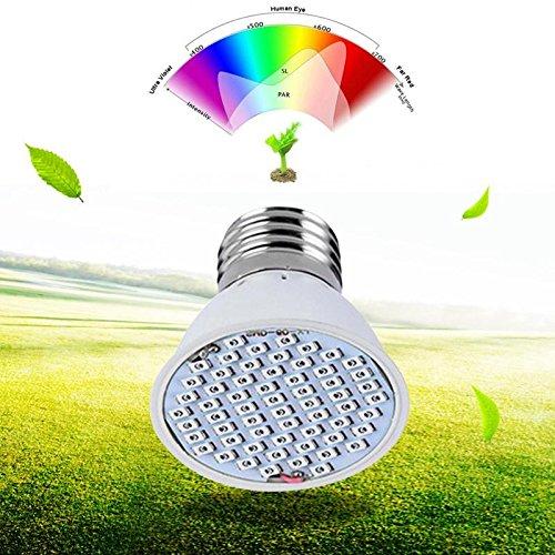 CALISTOUDE LED wachsen Pflanzen-Lichter-Lampe, 36 LED E27 4W Treibhaus-gl¨¹hende Beleuchtung Volles Spektrum f¨¹r Innen-Hydroponik Pflanzen-Gem¨¹se-Blume