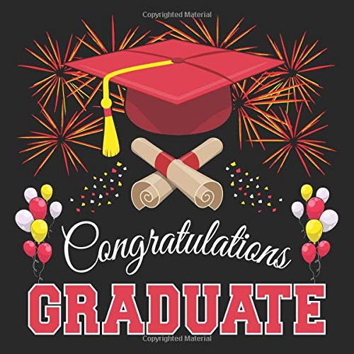 Graduation Guest Book: Congratulations Graduate GuestBook + Gift Log | Class of 2019 Graduation Party Memory Sign In Keepsake Journal | Black Red Cover