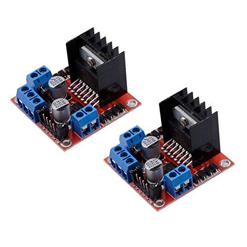 Muzoct 2 Stücke Packungen L298 N Motor Drive Controller Board Modul DC Dual H-Bridge Stepper Motor für Arduino Smart Car - 3-phasen-motor-spannung