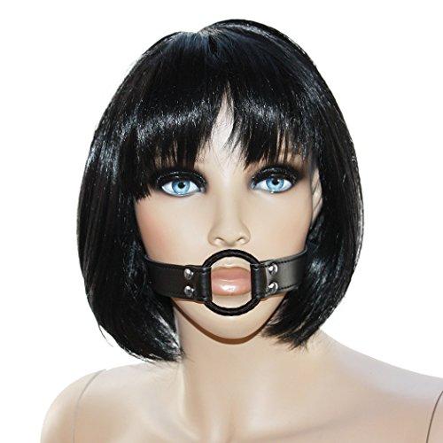SEE-X Mundknebel, Ringknebel 3,70cm, Gag-Ring schwarz - BDSM Bondage Knebel Erotik-Toy ModNr 7101