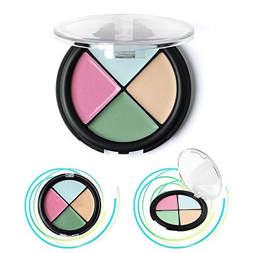 20 Schimmernden Primer (Kosmetik Concealer Palette, KRABICE 4 Farbe Makeup Dunkler Kreis Concealer Creme Gelbe Kreise Make Up Concealer Creme (1,4 Unzen / 40g)# 4)