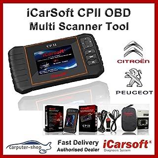 iCarsoft cpii Citroen/Peugeot Smart Diagnostic Scanner Tool SRS ABS Bremse Motor Reset EBP SAS