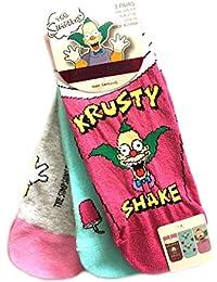 Primark The Simpsons Krusty - Juego de 3 pares de calcetines para mujer, talla única