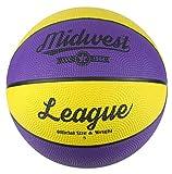 Midwest League Basketball 5 Yellow/Purple