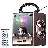 Tragbare Musikbox Radio MP3 Player USB Micro-SD Akku LED Lautsprecher Musik Box