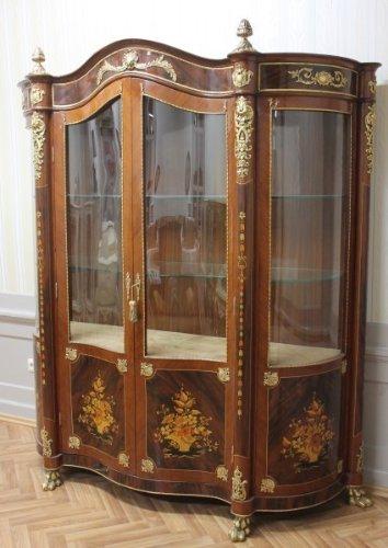 LouisXV Barock Vitrine Rokoko Antik Stil Schrank Louis XV MoVi1100Hz antik Stil Massivholz....