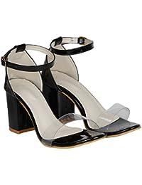 MISTO Women's Suede Leather Block Heel Sandals