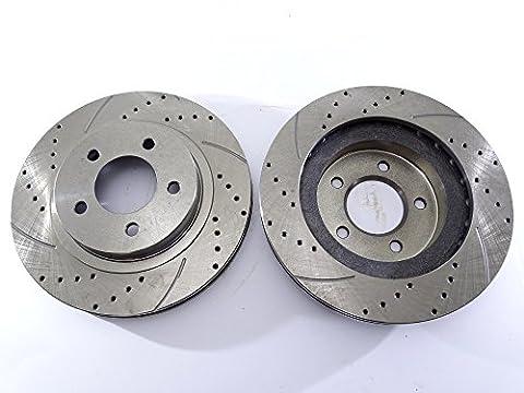 2x disque de frein Rotor avant 5386une comme Tec percé pour Chrysler 300m Concorde Intrepid