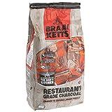 Braai Ketts 4 kg Charbon de bois de qualité professionnelle, morceaux XXL, chaud en env. 12 minutes, idéal pour les barbecues boules, les barbecues au charbon, au camping ou lors les festivals, certifié FSC
