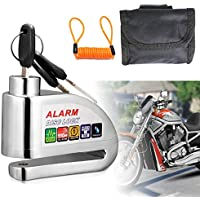 Bike Lock,Anti-theft Alarm Disc Lock Waterproof Disc Brake Lock with 110db Alarm Sound for Motorcycles Bicycles