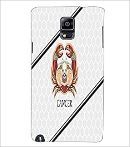 PrintDhaba Zodiac Cancer D-3350 Back Case Cover for SAMSUNG GALAXY NOTE 3 (Multi-Coloured)