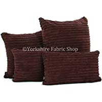 Realizzato a mano nel Regno Unito–Materiale Tessuto copertura del cuscino in velluto a coste con morbida imbottitura Inserto, Aubergine, Small Size - 28cm x 28cm - 11