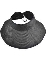 Veroda mujeres verano Chic Amplia Grande Ala Playa Sol Visera plegable sombrero de paja