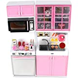Baellar cocina moderna 16 juegos de batería de juguete de cocina para las niñas