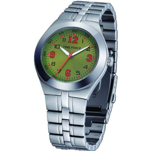 Reloj TIME FORCE unisex para señora/caballero. Acero Cromado Cadena. TF-2932M07M
