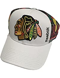 Chicago Blackhawks Reebok Structured Adjustable Two-Tone Hat