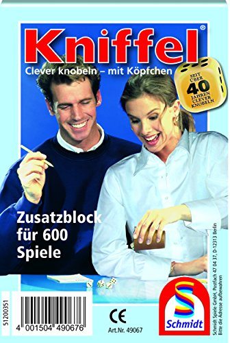 schmidt-spiele-49067-yahtzee-blocco-da-gioco-fino-a-600-partite-importato-dalla-germania