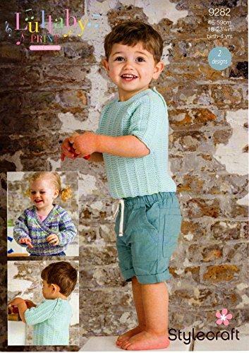 Stylecraft Baby & Kinder Pullover & Wrap Cardigan Lullaby Prints Strickmuster 9282DK - Wrap-kinder Pullover