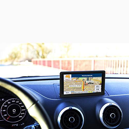 GPS Voiture 7 Pouces Ecran Tactile, 8GB Instructions Vocales, Système de Navigation avec Multi-Languages, Mise à Jour à Vie de la Carte dans 52 Pays