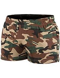 Musclealive Hombres Gimnasio Culturismo Rutina de Ejercicio Men Pantalones Cortos Algodón