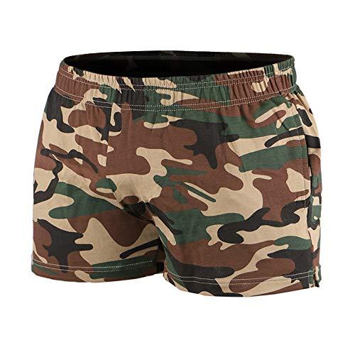 8694f9886f59fe Musclealive Hombres Gimnasio Culturismo Rutina de Ejercicio Men Pantalones  Cortos Algodón