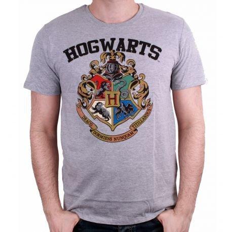 HARRY POTTER Hogwarts Old School, T- T-Shirt Homme, (Gris Mélange), X-Large (Taille Fabricant: XL)