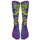 Perfect Gifts - Dye Tie Weed Art Print Stockings Breathable Trekking Socks Sports Socks For Women Teens Girls Unisex Religious Weed Art Purple