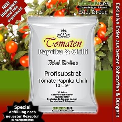 Tomatenerde Paprikaerde Chillierde - 10 Ltr. - PROFI LINIE Substrat von GREEN24 auf Du und dein Garten